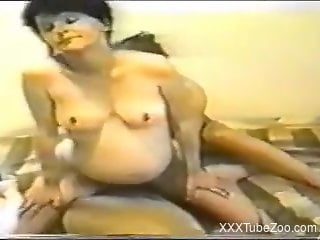 Classic couple using the dog for sexual desires in amazing xnxx video