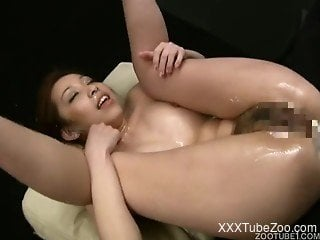 Asian girl loves dogs and especially when they are fucking her