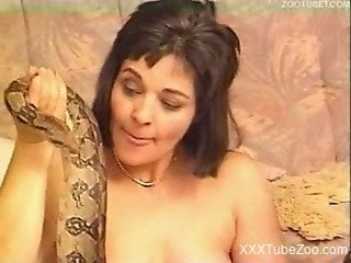 Two perverted zoophiles in exotic bestiality with a python