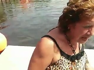 Cuban granny gets dry-humped by a prankster dolphin